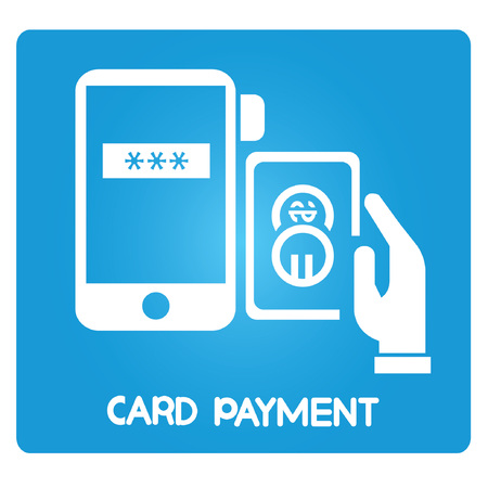 payment icon: card payment on smart phone