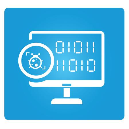 programming bug, virus detection Stock Vector - 24907002