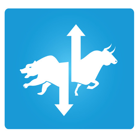 bear market: stock market symbol Illustration