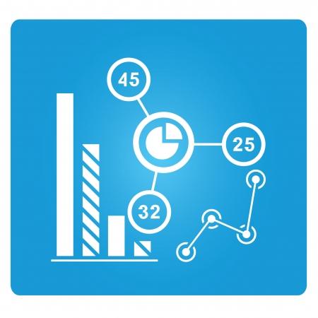 graph, marketing analysis, data analysis Vector