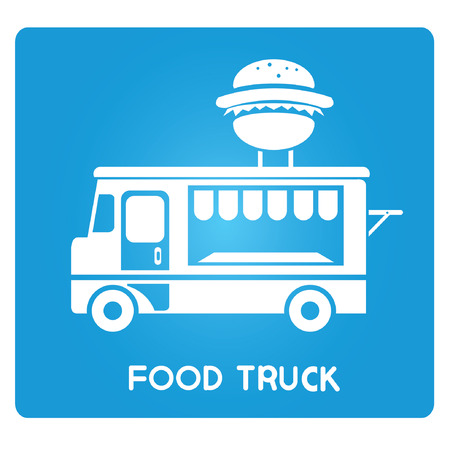 eating fast food: food truck