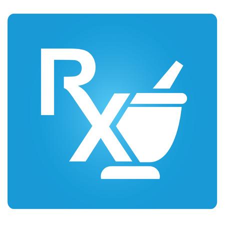 pharmacy icon: RX, Pharmazie, Medizin-Symbol