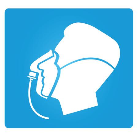 inhalation: oxygen mark sign