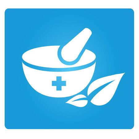 dispensation: herbal symbol, rx Illustration