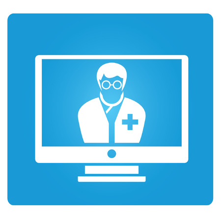 medical consultant online Vector