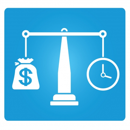 equitable: money and time balance symbol