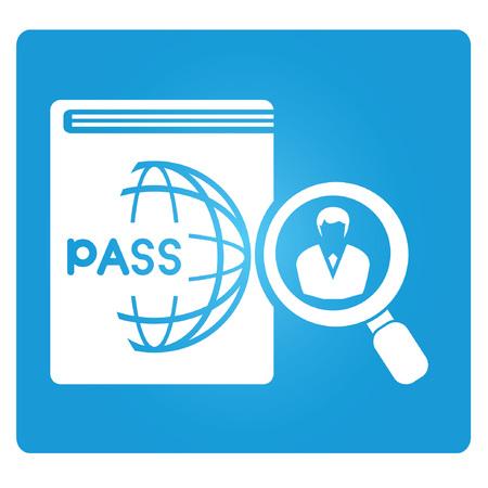 immigration verification symbol Ilustrace
