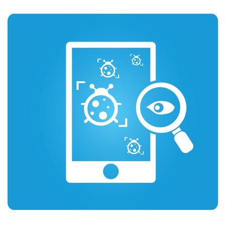 spy ware: virus tracking symbol