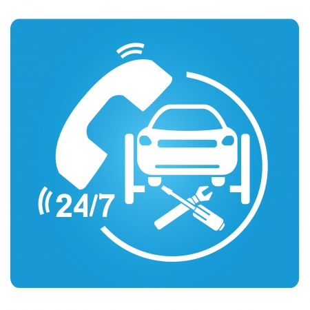 spare parts: car repair service symbol
