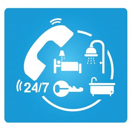 conveniently: hotel service symbol Illustration
