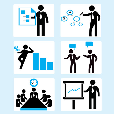 mapping: business management and organization management Illustration