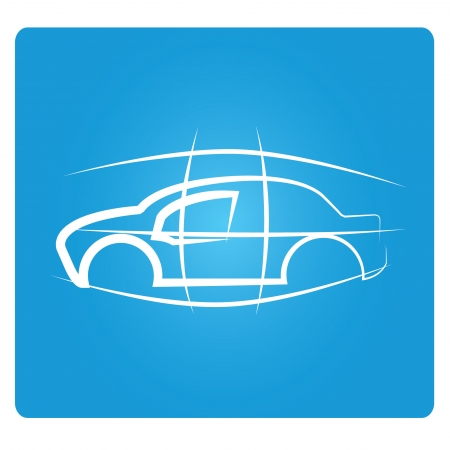sketched car design Vector