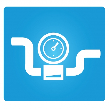 símbolo de válvulas industriales, indicador