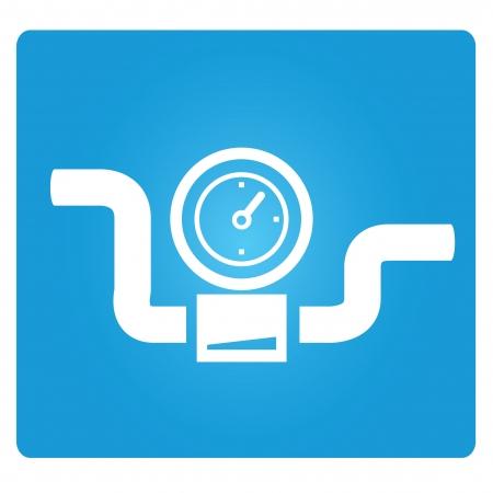 simbolo della valvola industriale, manometro
