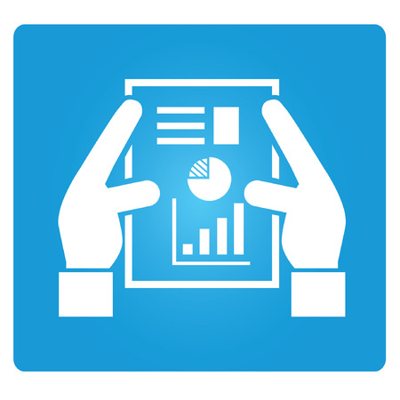 financial report symbol Vector