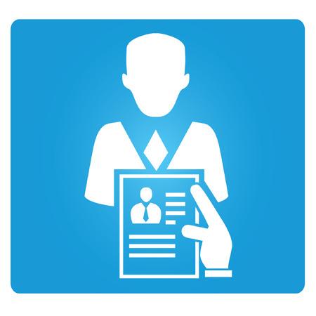 job interview: job interview symbol Illustration