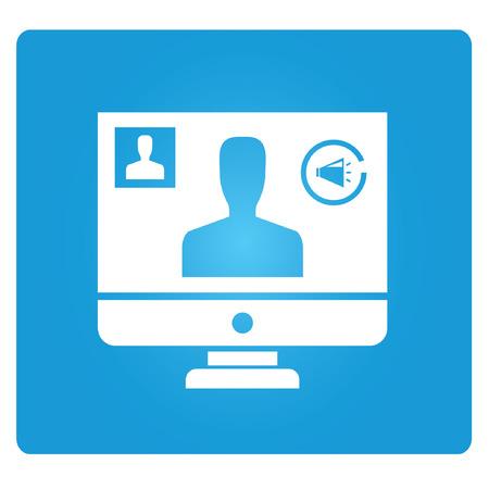 conferencia en línea, videoconferencia Ilustración de vector