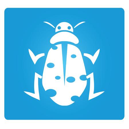 parasitic infestation: bug symbol Illustration