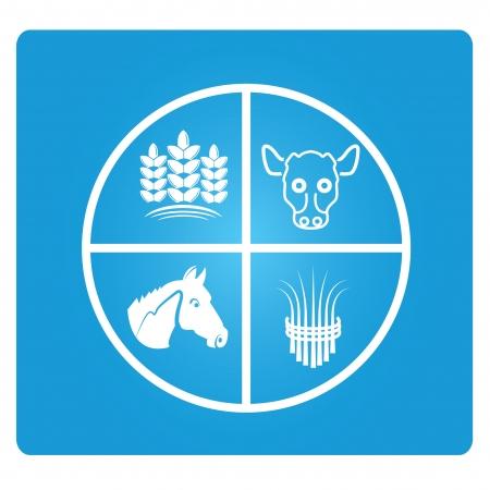 sectors: agricultural concept Illustration