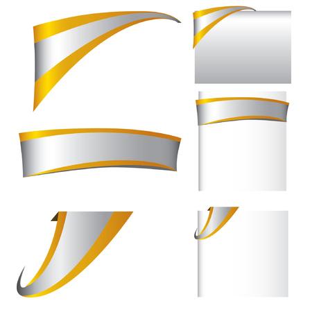 gold label, elegant web element