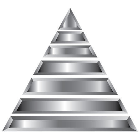 silver pyramid diagram Stock Vector - 25119259