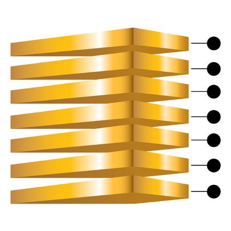 golden layers diagram Vector