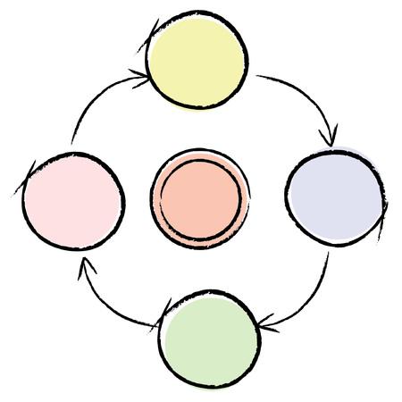 weblogs: sketched diagram Illustration
