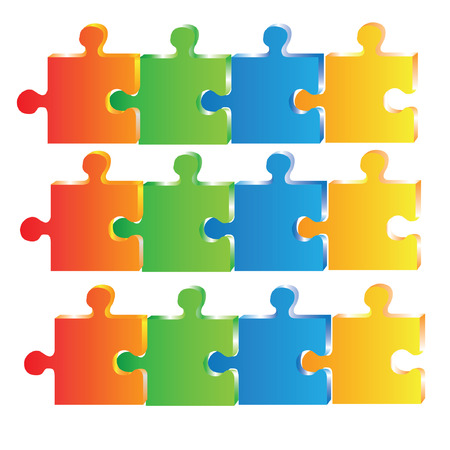 colorful puzzle diagram Vector