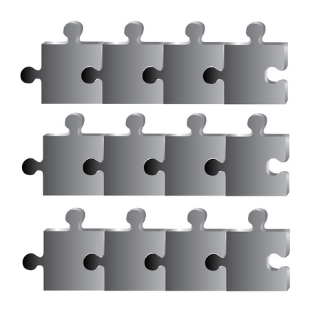 black puzzle diagram Vector
