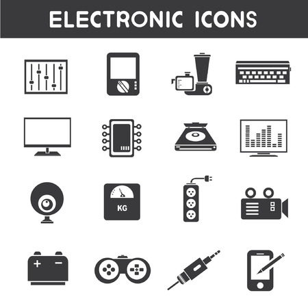 microchip: electronic icons Illustration