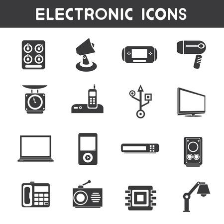 electronic icons Vektorové ilustrace