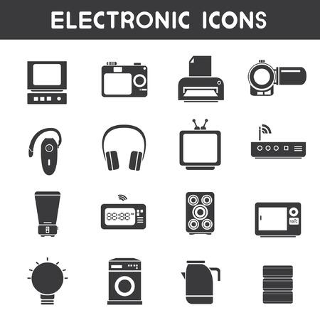 compute: electronic icons Illustration