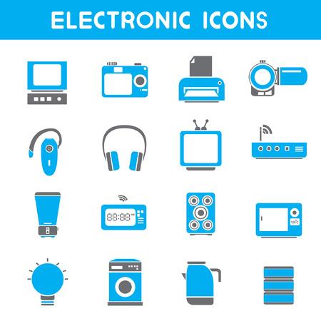 printer icon: electronic icons, blue theme icons