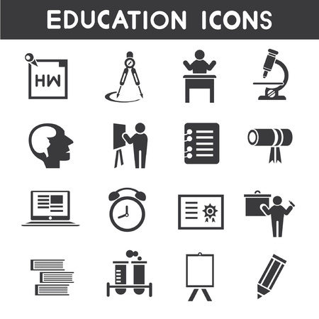 transcendence: education icons Illustration