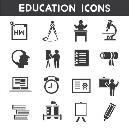 indoctrination: education icons Illustration