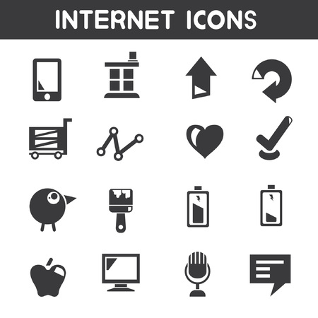 computer button: internet icons