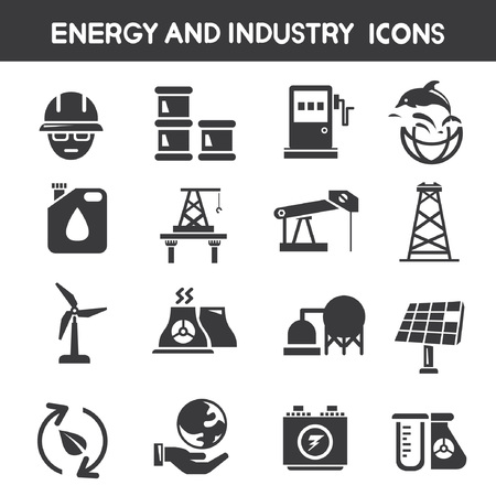 refinery engineer: industry and energy icons