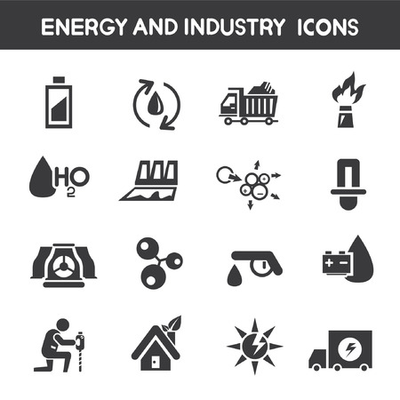 energy and industry icons Vector