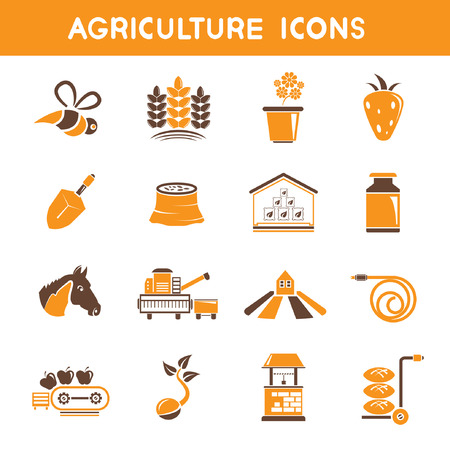 rubber tube: agriculture icons, orange theme icons