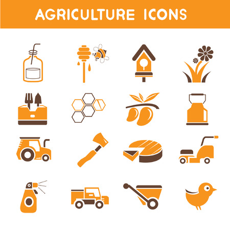panicle: agriculture icons, orange theme icons
