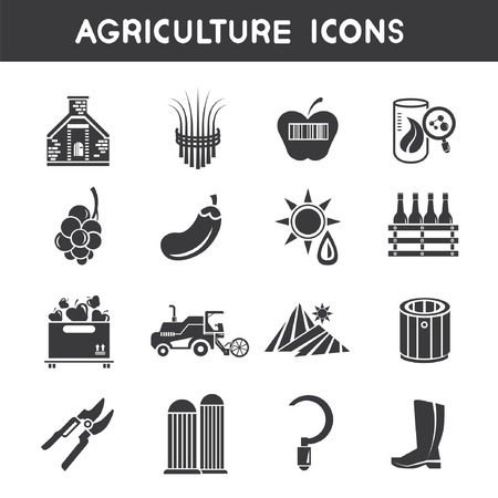 tillage: agriculture icons