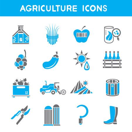tillage: iconos agricultura, azul iconos de tema