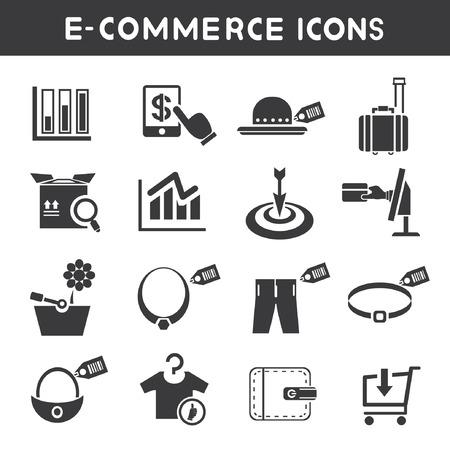 e commerce: e-commerce en shopping service pictogrammen
