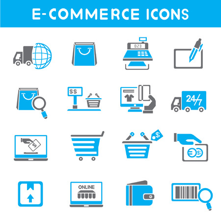 box weight: e commerce icons, blue theme icons