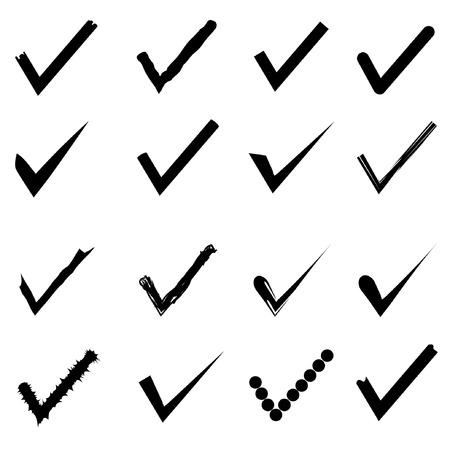marks: check marks Illustration