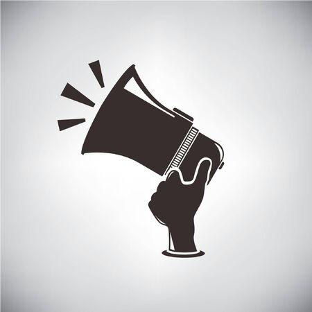 talker: megaphone, hand hold megaphone Illustration