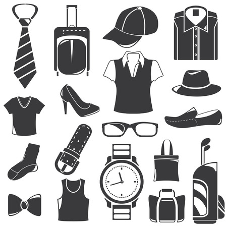 golf bag: business clothing icons