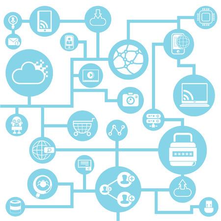 social network , social media Vector