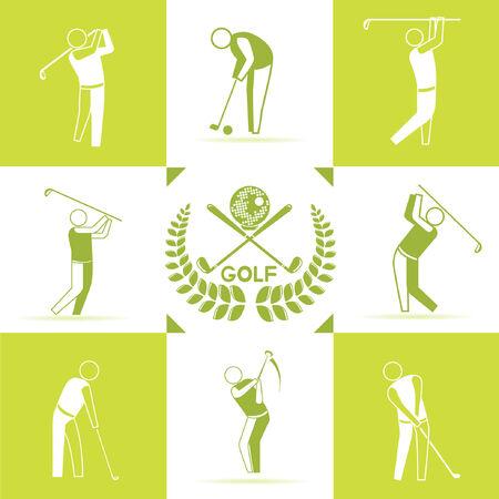 golf green: golf icons