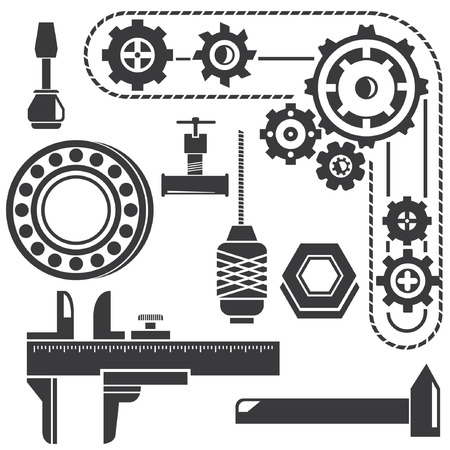 herramientas de mec�nica: herramientas mec�nicas, artilugio mec�nico, engranajes
